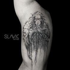 "Polubienia: 499, komentarze: 4 – SLAVIC tattoo (@slavic_tattoo) na Instagramie: ""Warrior for Leandro @leandro_moraes #warrior #warriorwoman #skandinavian #vikings #vikingtattoo…"""
