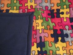 Puzzles with blue backing by JandJblankiesandETC on Etsy