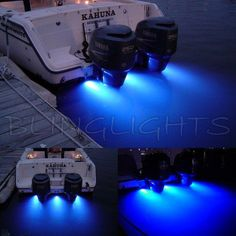 Grady White Boats LED Underwater Aqua Lamp Marine Bronze Light Fish Yacht Custom Thru Hull Lighting