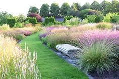 grasses in the garden by landscape architect Piet Oudolf.