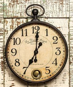 """Clock Hourglass Time:  Black """"Les Deux Magots"""" Wall #Clock, by Ragon House."""