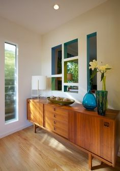 Mid Century Style Entry Modern Los Angeles David Lauer Photography