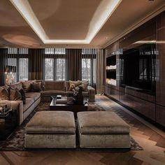 40 best rustic apartment living room decor ideas and makeover 1 Luxury Sofa, Luxury Interior, Luxury Living, Interior Architecture, Living Room Modern, Interior Design Living Room, Living Room Designs, Living Rooms, Elegant Home Decor