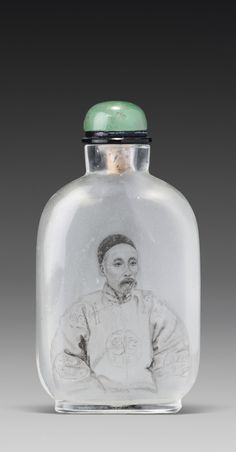 AN INSIDE-PAINTED GLASS 'PORTRAIT OF LIANG DUNYAN' SNUFF BOTTLE<br>MA SHAOXUAN, EARLY 20TH CENTURY   lot   Sotheby's
