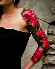Japanese tattoo sleeve by @edsarmay. #japaneseink #japanesetattoo #irezumi #tebori #colortattoo #colorfultattoo #cooltattoo #largetattoo #armtattoo #tattoosleeve #girltattoo #tattooedgirl #flowertattoo #peonytattoo #newschool #newschooltattoo #blackwork #blackink #blacktattoo #wavetattoo #naturetattoo