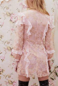 Bumble Long Sleeve Ruffle Dress