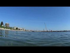 Baden am Strand in Kiel Schilksee in der Kieler Förde #kiel #summer #beach