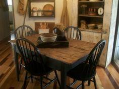 primitive dining room furniture   Primitive Dining Room, Dining Rooms Design #PrimitiveDiningRooms
