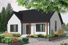 Modern Farmhouse Plan: 1,257 Square Feet, 2 Bedrooms, 2 Bathrooms - 041-00227 Guest House Plans, Bungalow House Plans, New House Plans, Small House Plans, House Floor Plans, Small Bungalow, Guest Houses, Cabin Plans, Small Cottage Homes