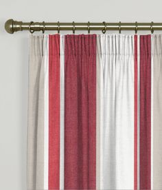 Made To Measure Curtains Hartford Stripe Crimson - Clarke And Clarke Hartford Stripe Collection Made To Measure Curtains - Made to measure curtains Hartford Crimson. A great quality heavy weight 100% Cotton Ticking Stripe.Product Info: