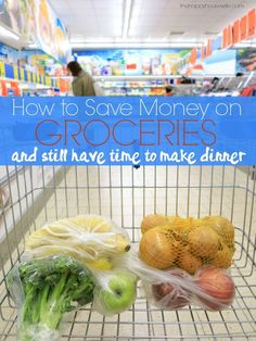 You can save money on groceries and still have time to make dinner. Saving money doesn't have to be time consuming or overwhelming as there are simple ways to save on groceries every week. | The Happy Housewife