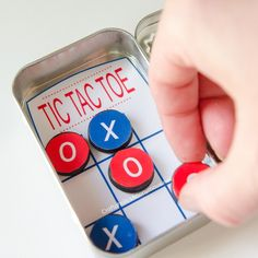 Craftaholics Anonymous® | DIY Pocket Tic Tac Toe Game with Printable