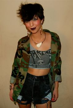 Authentic Vintage Studded Army Camo Jacket by BasementGold on Etsy, $45.00