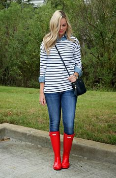 Cute rainy day outfit | Bows and Depos
