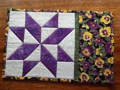 VARIABLE STAR mug rug snack mat pdf pattern by AnniesQuiltCraft