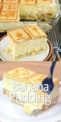 This creamy, rich Banana Pudding Recipe is a delicious, no-bake dessert! Perfect for weeknights or potlucks, everyone will LOVE this classic recipe! Copycat Paula Deen Not Yo Mamas Banana Pudding Recipe! Not Yo Mamas Banana Pudding Recipe, No Bake Banana Pudding, Banana Pudding Recipes, Paula Deen Banana Pudding Recipe Video, Banana Recipes Videos, Healthy Banana Pudding, Banana Pudding Ingredients, Banana Pudding Cupcakes, Southern Banana Pudding