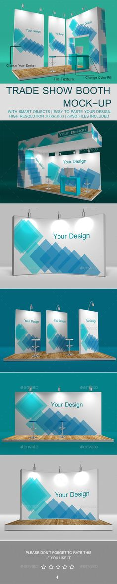 Buy Trade Show Booth Mockup by sbcreation on GraphicRiver. Trade Show Booth Mockup 6 Trade Show Booth Mockup 6 Trade Show Displays/Pop-Ups Mockups High quality Renders Easy to . Trade Show Booth Design, Stand Design, Display Design, Exhibition Booth Design, Exhibition Space, Drink Bar, Mockup Photoshop, Environmental Design, Corporate Design