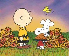 Charlie Brown gives thanks too