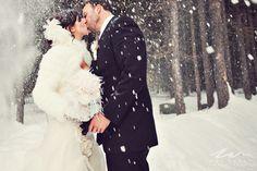 Stunning shot!  Winter Wonderland Wedding