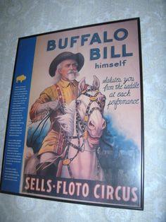 Framed Buffalo Bill Sells Floto Circus Art Print Poster | eBay