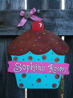 ;D Large CUPCAKE Room Decor Bakeshop or Kitchen by EvansCraftHut, $9.50