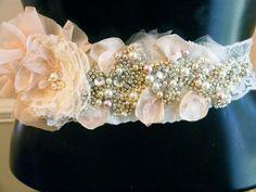 Wedding Belt, Bridal Belt, Sash Belt, Crystal Rhinestone. $225.00, via Etsy.