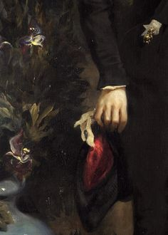 Eugène Delacroix, Louis-Auguste Schweiter (detail), 1826-30