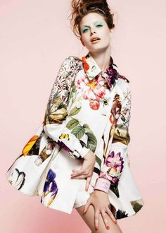 Awesome jacket. This print reminds me of the iconic Gucci floral design -- on acid.