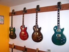 guitars on the wall