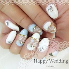 59 Unique Summer Wedding Nail Art Ideas To Make Your Nails Bridal Ready And Design