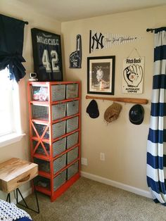 Vintage Sports Themed Bedroom - Lady & Little Loves - Sports room -