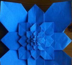 Hydrangea origami tutorial