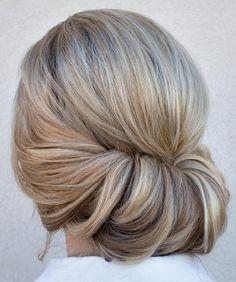 Chignon Bun Hairstyles for wedding 10