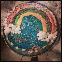 rainbow birthday cake DIY.