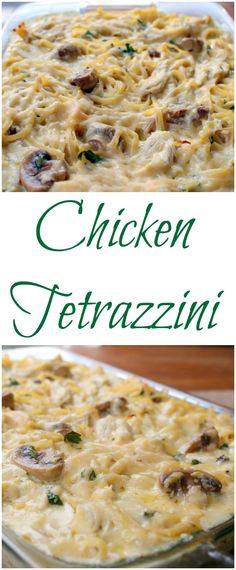 Easy, delicious, and the ultimate in comfort food! Pasta with chicken, mushrooms, and cheese. This will be your new rainy day favorite!