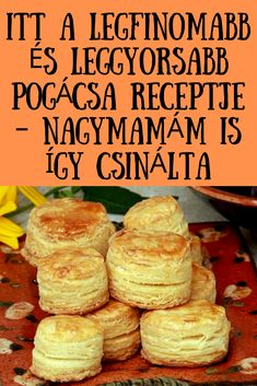 Nagymamám is így csinálta! Sin Gluten, Hungarian Recipes, No Bake Cake, Baked Goods, Biscuits, Food And Drink, Favorite Recipes, Bread, Cheese