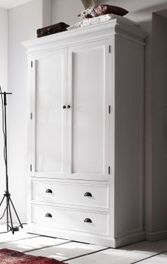 Whitehaven Painted 2 Door 2 Drawer Double Wardrobe | Furniture UK