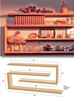 Wall Shelves Plans - Woodworking Plans and Projects | WoodArchivist.com #woodworkingideas