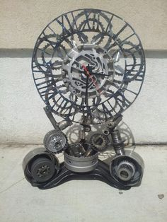 Clock made from the internals of a Mercedes S 500 transmission