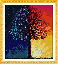 Benway Counted Cross Stitch Kit Colour Life Tree 14 Count 57x64cm Benway http://smile.amazon.com/dp/B00Y0VKRBW/ref=cm_sw_r_pi_dp_ZkN6vb085QKHF