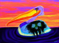 A pelican trying to survive a toxic oil spill