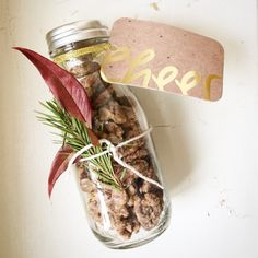 These homemade Candied Pecans with Grapefruit Zest make a tasty, edible DIY stocking stuffer gift.