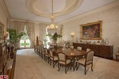 Candy Spelling's formal dining room