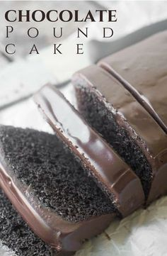 Rich and creamy chocolate ganache topped with a deep and dark pound cake. The mouthwatering cake recipe that is must do at least once!