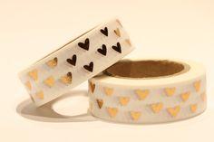 Scrapbooking-Tape - Masking Tape / Washi Tape bronzene Herzen - ein Designerstück von Farbenkreisel bei DaWanda