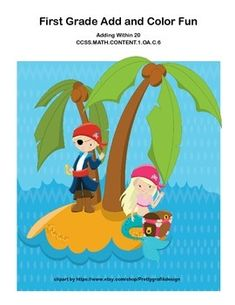 CCSS.MATH.CONTENT.1.OA.C.6Here's a collection of five worksheets that provide practice for addition within 20.  It's a fun pirate themed practice that is a great way to ease your students into gaining fluency with the basics.  The answer keys  are color coordinated for ease of checking.Looking for more fun first grade math practice?Try this linkMath K-1