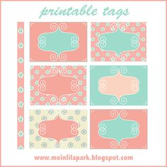 Free digital pastel colored papers and tags - ausdruckbare Etiketten – freebie | MeinLilaPark – digital freebies