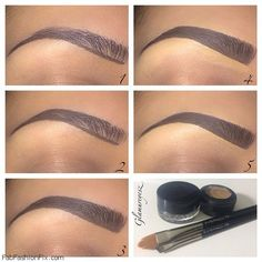 How to maintain and fill in eyebrows beauty routine? #brows #eyebrows #browstutorial #makeup