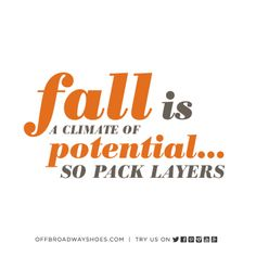 Part of the Fall Mantra.