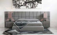 tête-lit-moderne-gris-taupe-coussins-décoratifs-velours